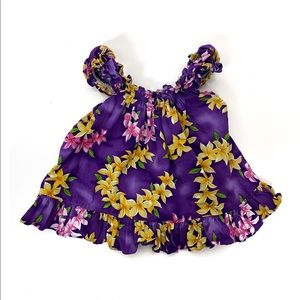 Other - Girls 24m Hawaiian Dress Purple Smocked Floral